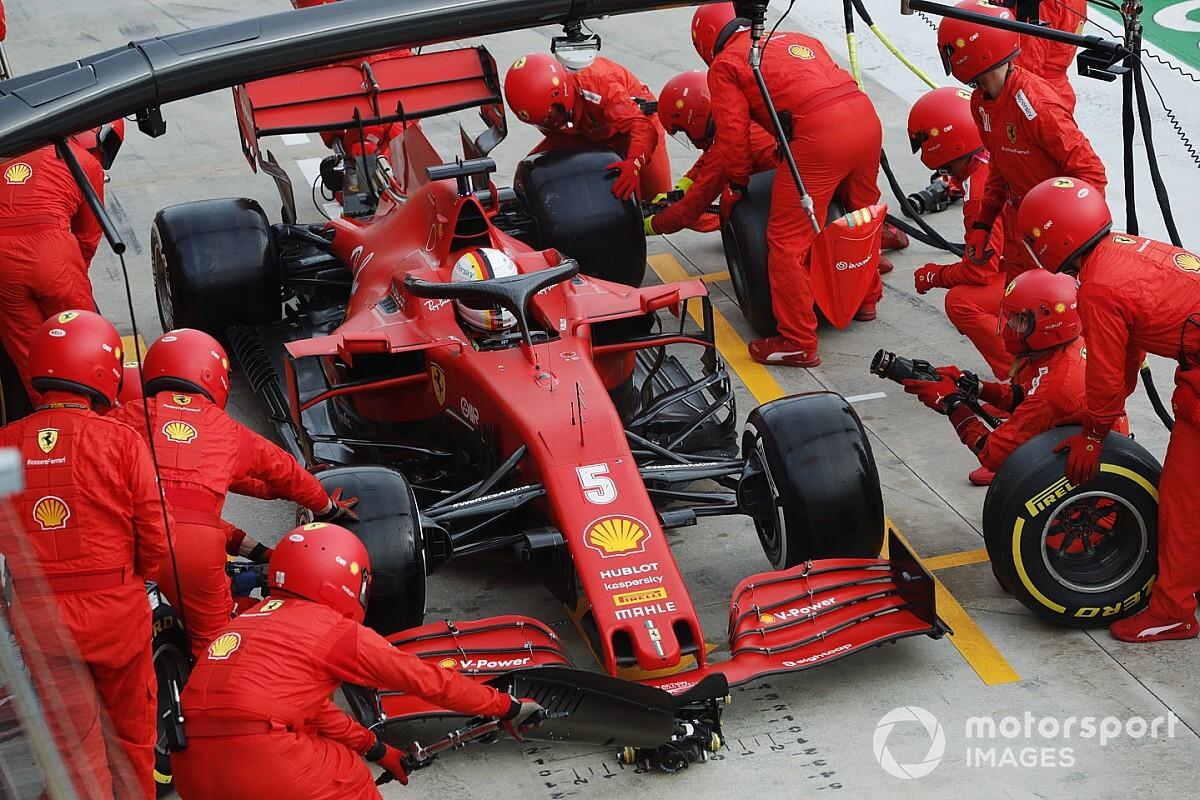 Veja como Vettel reagiu com mecânico que errou em pit stop em Ímola