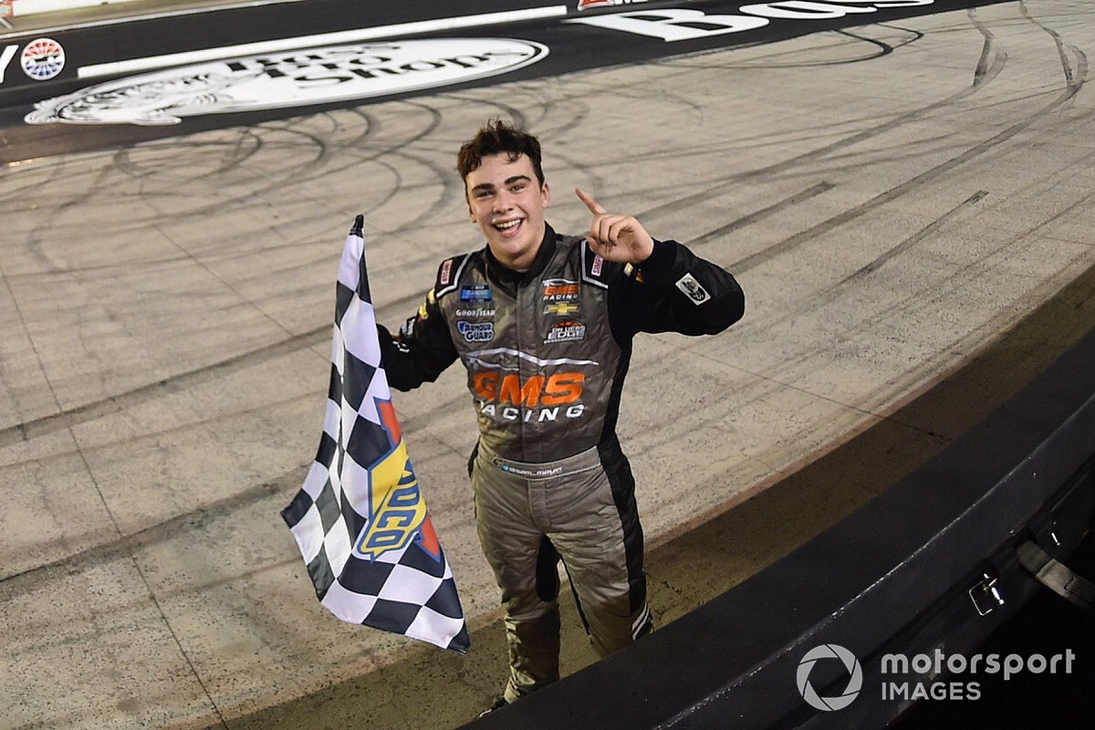 Sam Mayer spoils playoff opener with Bristol Truck win
