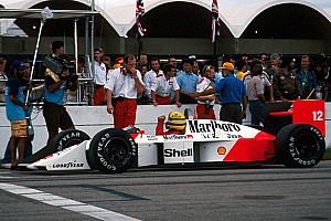 How Senna's first title year began with a black flag in Brazil