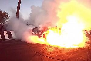 Videó: Gumiégetés közben kapott lángra egy Lamborghini Huracán