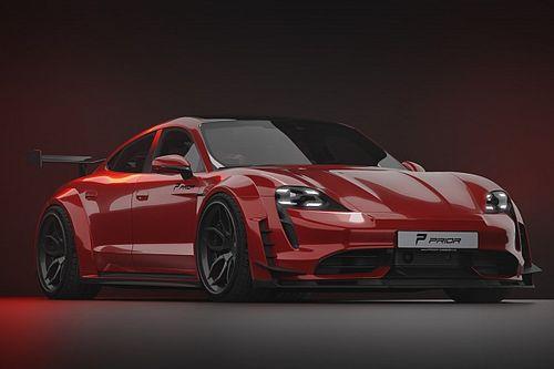 Porsche Taycan, extra large dopo la cura di Prior Design