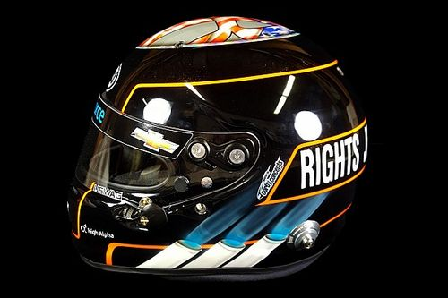 Hildebrand's new helmet calls for social justice, equality