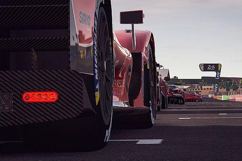 Team Redline weer in actie na tweede rode vlag in Virtual Le Mans