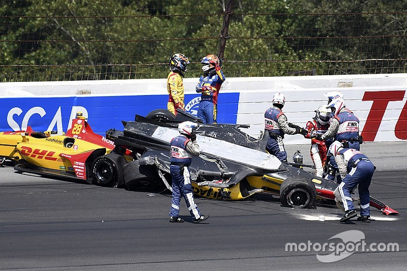 "Rossi slams ""disgraceful"" Sato for causing Pocono pile-up"