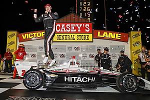 Iowa IndyCar: Newgarden wins rain-disrupted race, Dixon stars