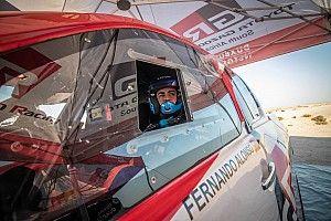 """Alonso, tras su primer test serio para el Dakar: """"Ya hay progresos"""""""