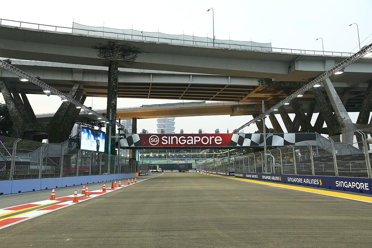 Fotogallery F1: i preparativi del tracciato del GP di Singapore