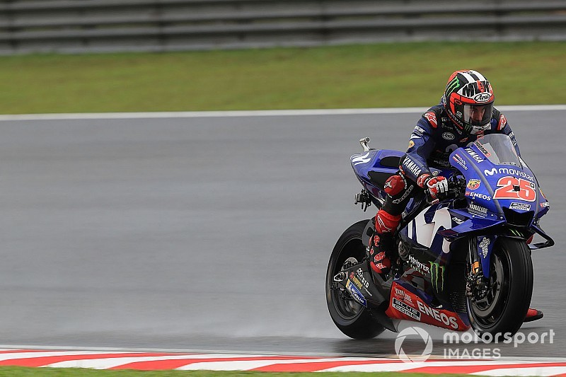 "Vinales demands ""better bike in wet"" from Yamaha crew"