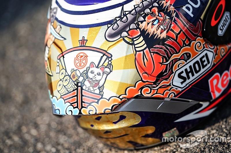 In beeld: Nieuwe helm Marc Marquez voor Motegi