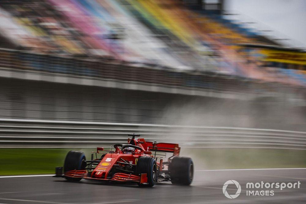Vettel pense que la victoire était jouable en pneus slicks