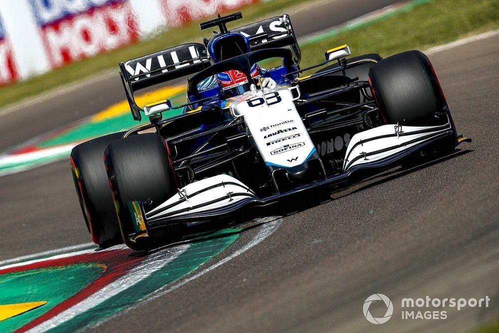 Russell Alami 'Momen Pastor Maldonado' di Kualifikasi GP Emilia Romagna