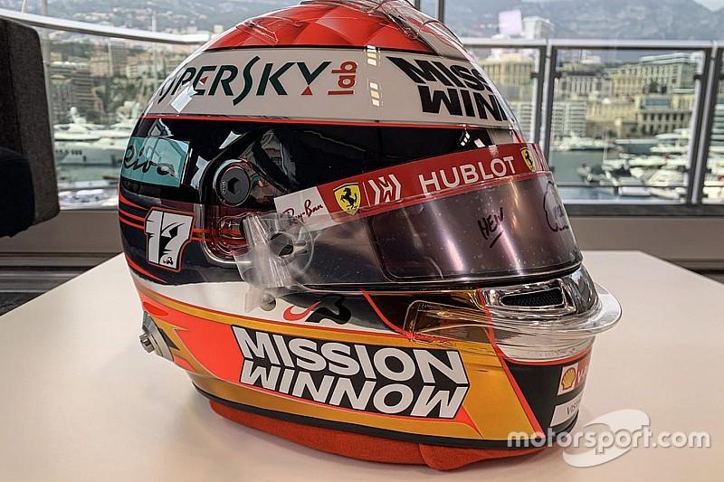 Leclerc avec un casque en hommage à Bianchi et à son père à Monaco