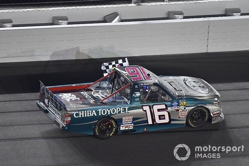 "After Daytona win, Austin Hill ""not chasing anything but wins"""