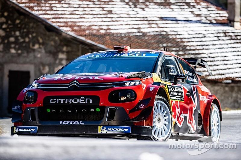 WRCモンテカルロ2日目:前年王者オジェが首位浮上、トヨタのタナクは痛恨のパンクで後退