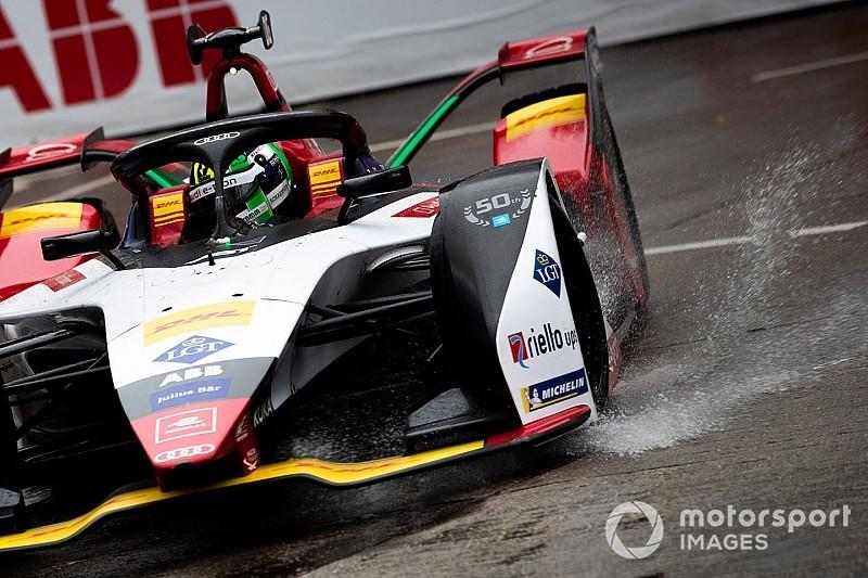 Брызги гоночного электричества. Лучшие фото с этапа Формулы Е в Гонконге