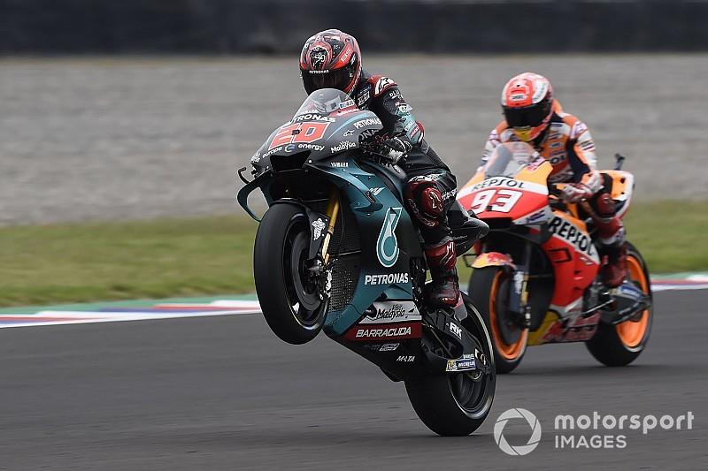 Куартараро на клиентской Yamaha выиграл квалификацию MotoGP в Хересе