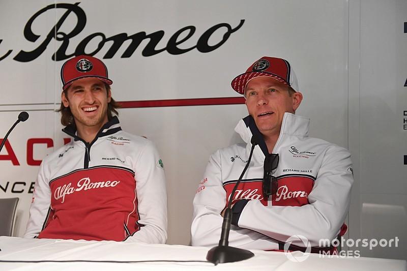 """Giovinazzi veut travailler """"dans la même direction"""" que Räikkönen"""