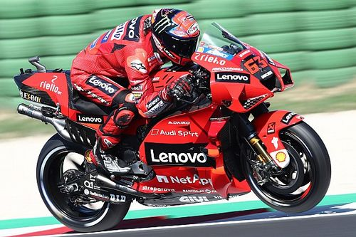 Misano MotoGP test: Bagnaia tops opening day for Ducati despite crash