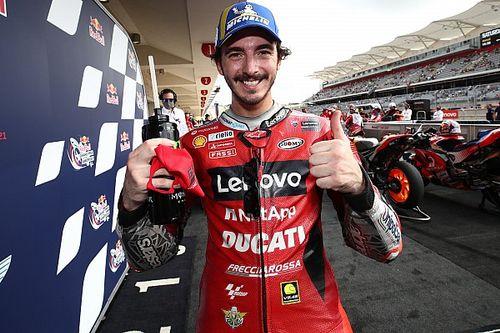 """Bagnaia dice """"no hay que tocar la Ducati"""" tras ganar la pole en Austin"""