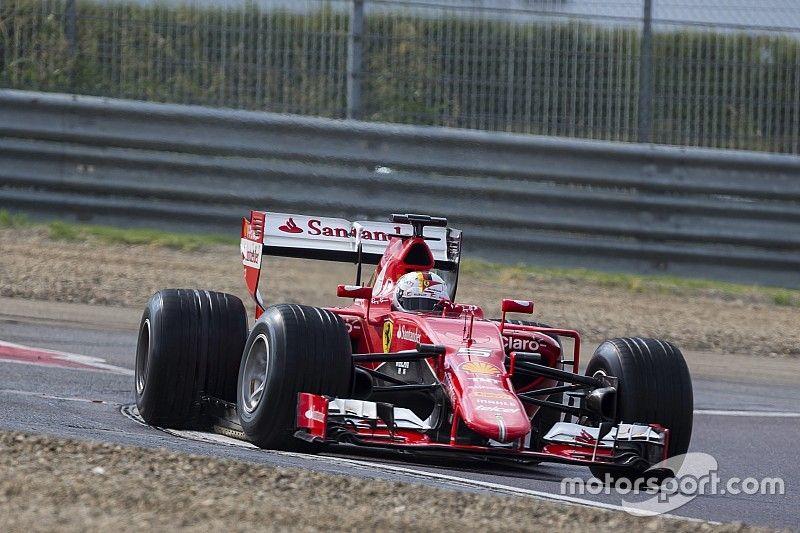 Vettel crashes during Pirelli's wet F1 tyre test
