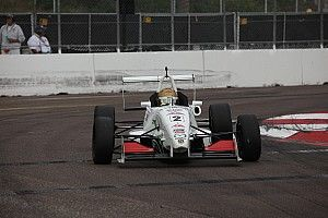 Thompson takes pole in tight fight at Barber
