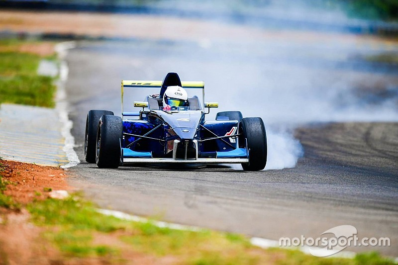 Coimbatore JK Tyre: Perera wins Race 2 from pole