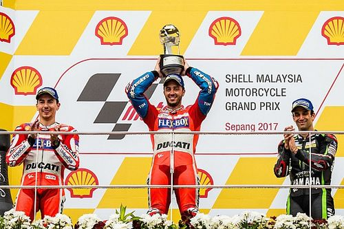 Malaysian MotoGP: Dovizioso wins to keep title hopes alive