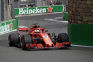 Vettel bovenaan na laatste training Azerbeidzjan, Verstappen op P4