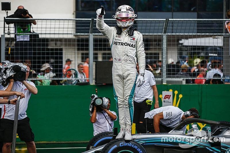 Hamilton logró la pole bajo la lluvia en Hungría