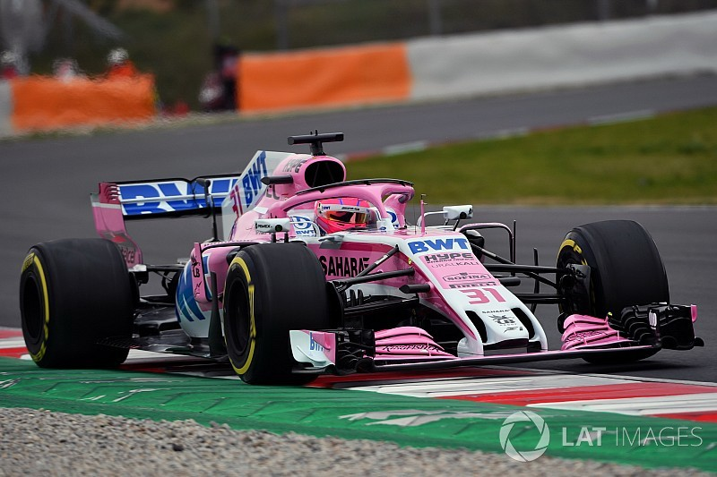 Slow start for Force India in Barcelona F1 test