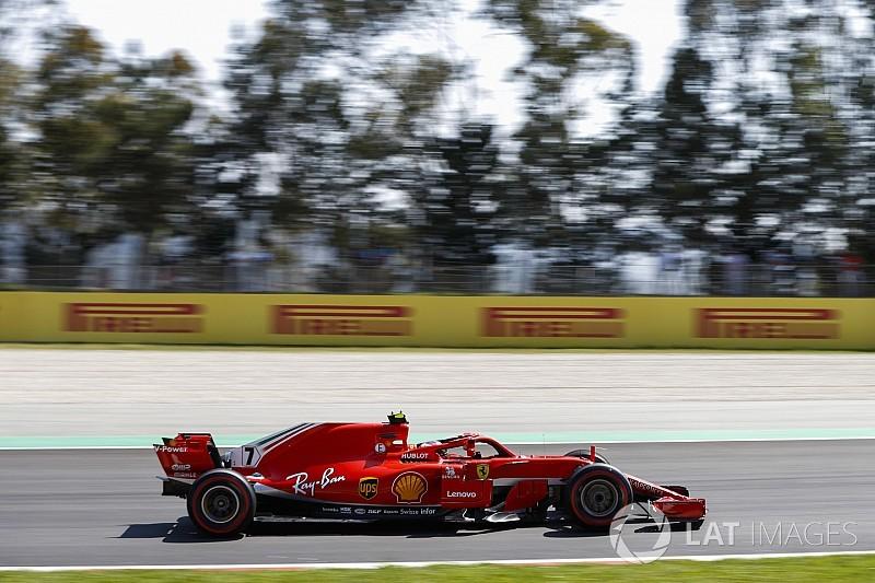 تغيير محرك سيارة رايكونن خلال جائزة إسبانيا الكبرى