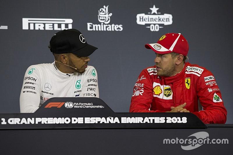 """Hamilton y Vettel critican que los F1 vayan a ser más lentos en 2019: """"Es cómico"""""""