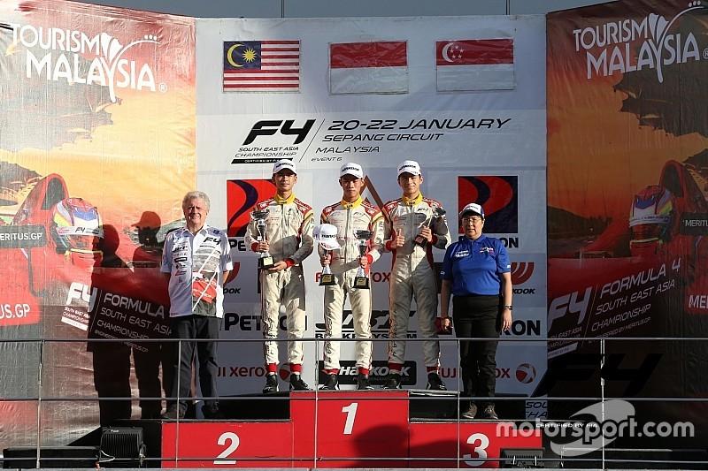 F4/SEA Sepang III: Jelang balapan terakhir, Presley juarai Race 5