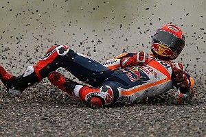 Detail: Alle foto's van de crash van Marc Marquez