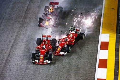 Flashback: Verstappen en de 'Ferrari-sandwich' in Singapore