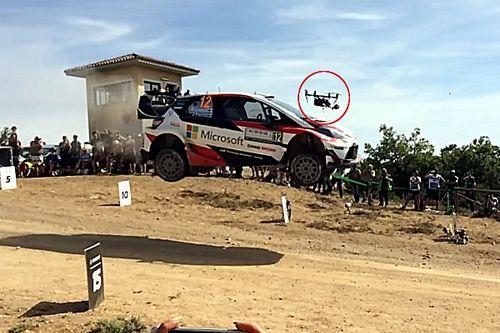Esapekka Lappi, WRC aracıyla Drone'a karşı