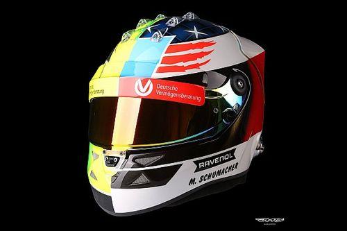 Gallery: Mick Schumacher's special helmet design for Spa demo