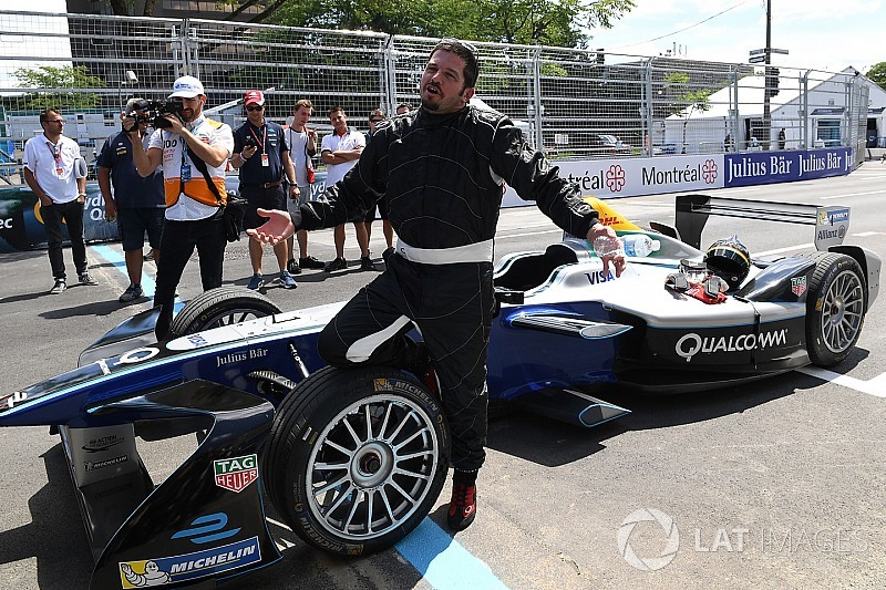 Patrick Carpentier dio la primera vuelta al circuito de Montreal de la Fórmula E