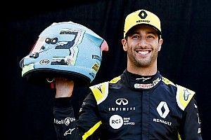Ricciardo presentó su nuevo casco para la temporada 2019