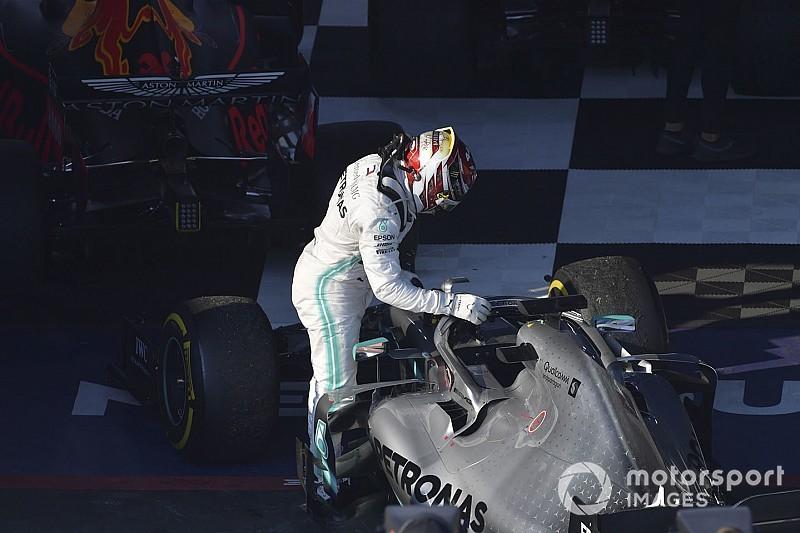 In beeld: Waarom Hamilton geen vuist kon maken in de GP van Australië