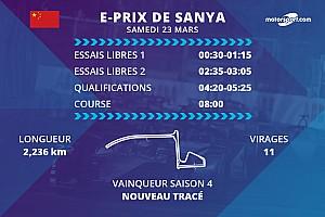 E-Prix de Sanya : programme et diffusions TV