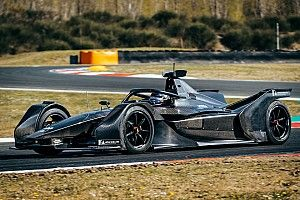 Mercedes Formula E car makes track debut
