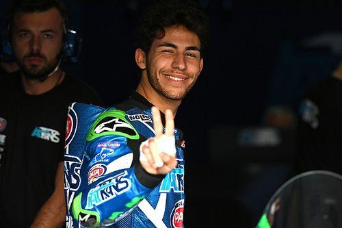 Bastianini centra il primo podio in Moto2 con una super rimonta