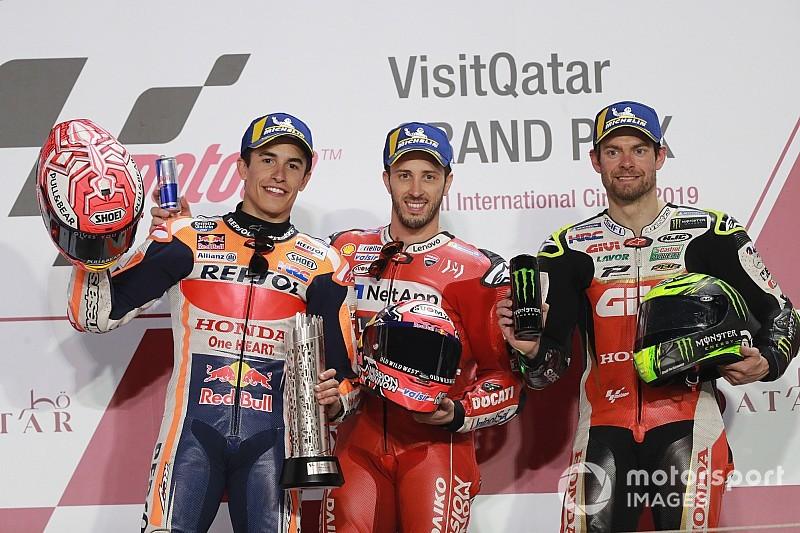 Katar GP: İnanılmaz yarışı Dovizioso 0.023 sn farkla kazandı, ilk 5 0.6 sn içerisinde tamamladı!