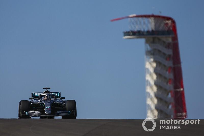 F1アメリカFP2:ハミルトン首位。レッドブルのフェルスタッペン肉薄の3番手