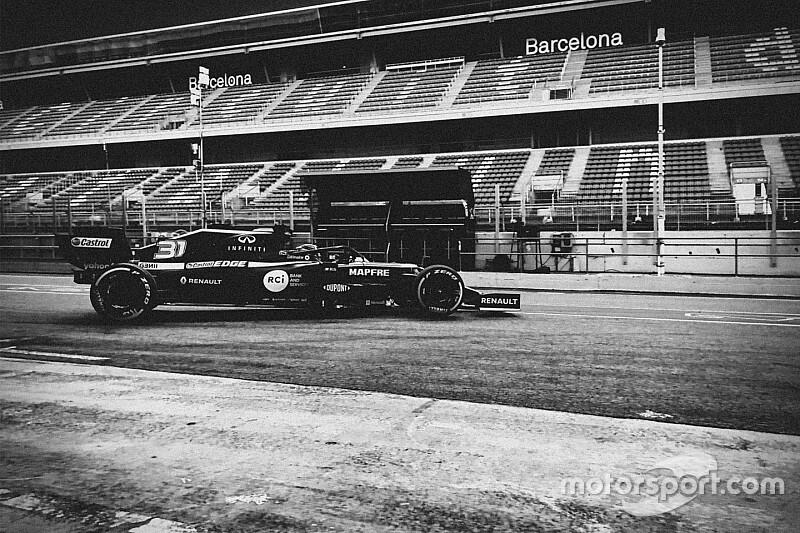 Ocon werkt eerste meters af met 2020-auto Renault