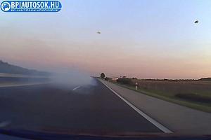 Videó: Így adta meg magát az M5-ösön száguldozó BMW motorja