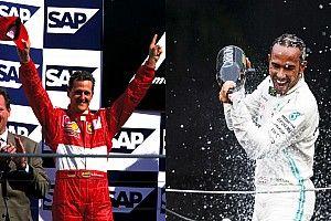La comparación de los 6 mundiales de Schumacher y Hamilton