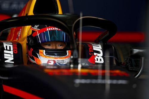 F2モンツァ:角田裕毅がトップタイム発進。8戦中4度目のフリー走行最速