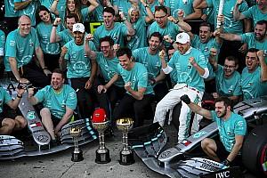 GALERÍA: así festejó Mercedes su 6º título en F1
